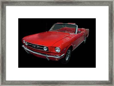 1966 Ford Mustang Convertible Digital Art Framed Print