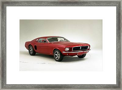 1966 Ford Mustang Mach I Concept Wide Framed Print