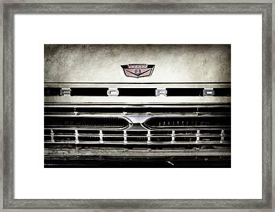 1966 Ford Pickup Truck Grille Emblem -0154ac Framed Print