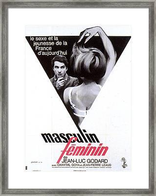 1966 Godard Masculin Feminin Framed Print