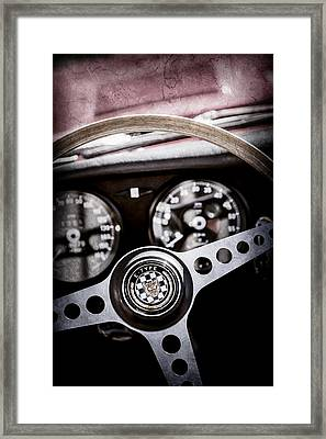 1966 Jaguar Xk-e Steering Wheel Emblem -2489ac Framed Print by Jill Reger