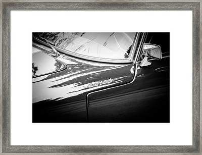 1966 Lotus Elan S3 Fhc Coupe Side Emblem -1227bw Framed Print