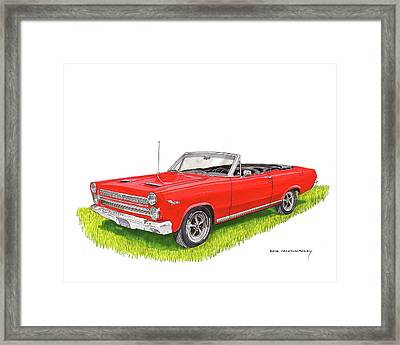 Framed Print featuring the painting 1966 Mercury Cyclone Convertible G T by Jack Pumphrey