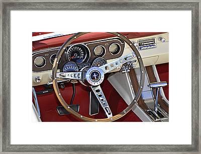 1966 Mustang Framed Print by Paul Mashburn