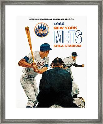 1966 New York Mets Scorecard Framed Print by Big 88 Artworks