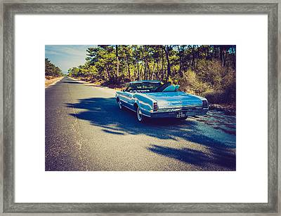 1966 Oldsmobile F-85 Convertible On A Surf Trip Framed Print