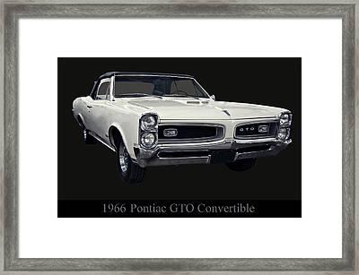 1966 Pontiac Gto Convertible Framed Print