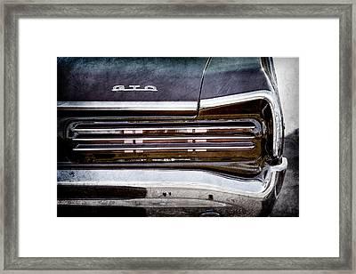 1966 Pontiac Gto Taillight Emblem -0138ac Framed Print by Jill Reger