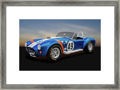 Framed Print featuring the photograph 1966 Shelby Cobra  -  1966shelbycobra427170660 by Frank J Benz