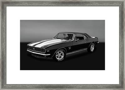 1967 Chevrolet Camaro Ss/rs 396  -  1967camaro22grybw Framed Print