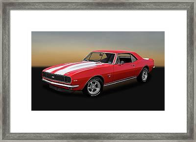 1967 Chevrolet Camaro Ss/rs 396   -   1967ss396camaro2483 Framed Print