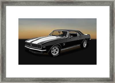 1967 Chevrolet Camaro Ss/rs 396  -  1967sscamarobw2483 Framed Print