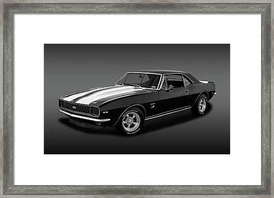 1967 Chevrolet Camaro Ss/rs 396   -   B_w67396camarossfa2483 Framed Print