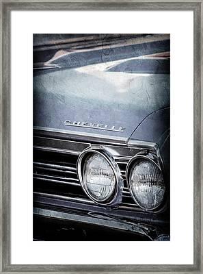 1967 Chevrolet Chevelle Ss Super Sport Emblem -0413ac Framed Print