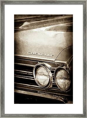 Framed Print featuring the photograph 1967 Chevrolet Chevelle Ss Super Sport Emblem -0413s by Jill Reger