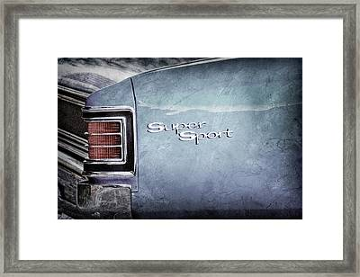 1967 Chevrolet Chevelle Ss Super Sport Taillight Emblem -0288ac Framed Print by Jill Reger