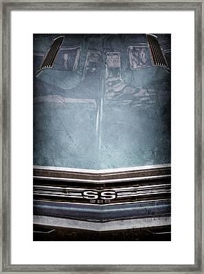 1967 Chevrolet Chevelle Super Sport Emblem -0028ac Framed Print