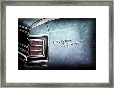 1967 Chevrolet Chevelle Super Sport Taillight Emblem -0035ac Framed Print