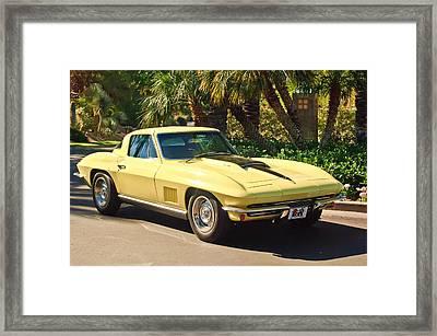 1967 Chevrolet Corvette Sport Coupe Framed Print by Jill Reger