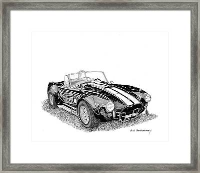 Framed Print featuring the painting 1967 Cobra Sc by Jack Pumphrey