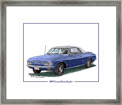 1967 Corvair Monza Spyder Framed Print by Jack Pumphrey