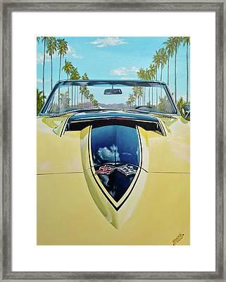 1967 Corvette 427 Convertible Framed Print by Branden Hochstetler