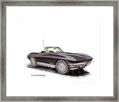 1967 Corvette Stingray Convert. Framed Print