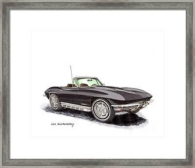 1967 Corvette Stingray Convert. Framed Print by Jack Pumphrey