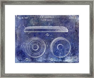1967 Frisbee Patent Blue Framed Print by Jon Neidert
