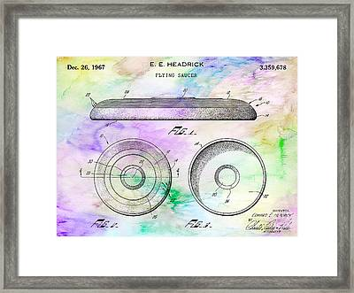 1967 Frisbee Patent Colorful Framed Print