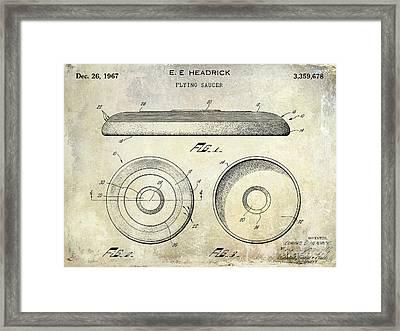 1967 Frisbee Patent Framed Print by Jon Neidert