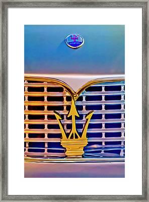1967 Maserati Sebring Coupe Emblem Framed Print by Jill Reger