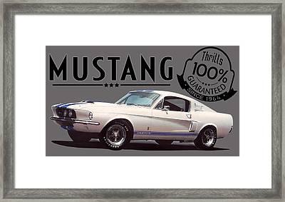 1967 Mustang Gt500 Thrills Framed Print
