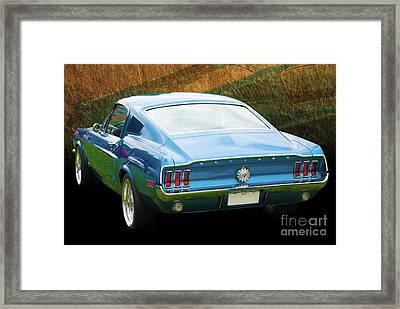 1967 Mustang Framed Print