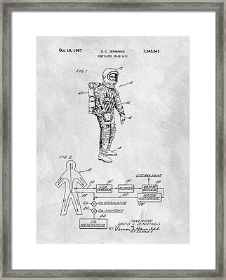 1967 Nasa Space Suit Framed Print by Dan Sproul