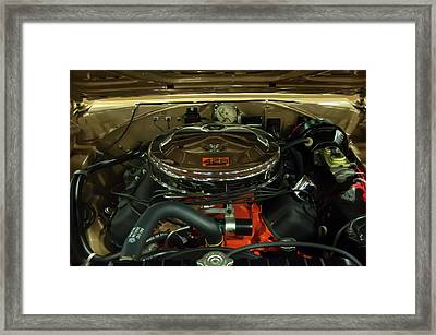 1967 Plymouth Belvedere Gtx 426 Hemi Motor Framed Print