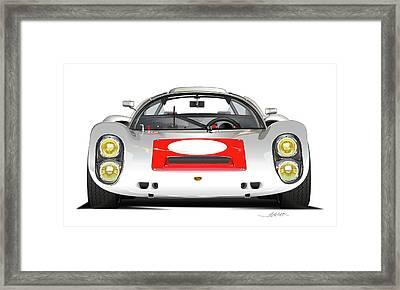 1967 Porsche 910 Illustration Framed Print by Alain Jamar