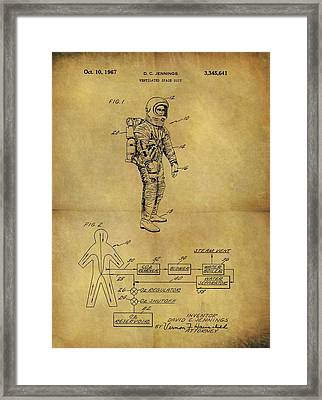 1967 Space Suit Patent Framed Print by Dan Sproul