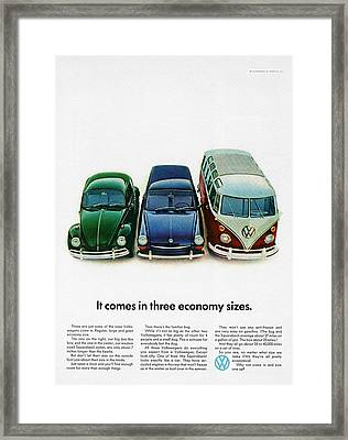 1967 Volkswagen Beetle Squareback And The Box Framed Print by Digital Repro Depot