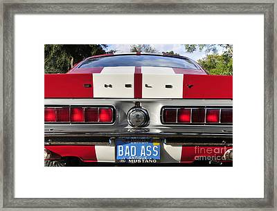1968 Bad Ass Shelby Mustang Framed Print by David Lee Thompson