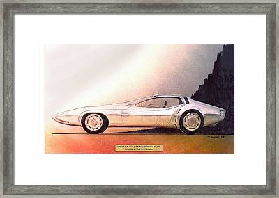 1968 Barracuda Vintage Styling Design Concept Sketch Framed Print by John Samsen