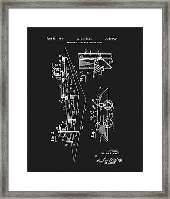 1968 Basketball Court Patent Framed Print