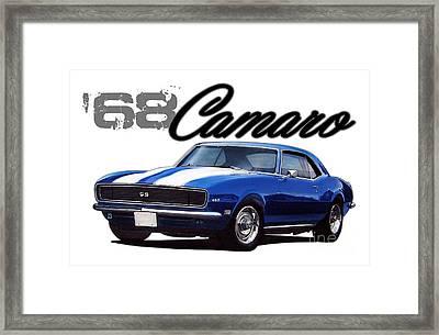1968 Camaro Framed Print by Paul Kuras