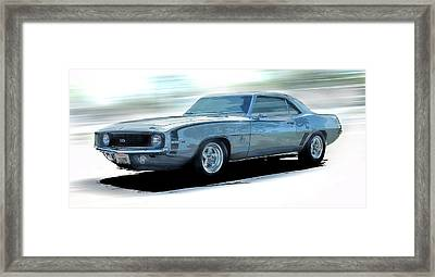 1968 Camero Ss Speed Framed Print by Larry Helms
