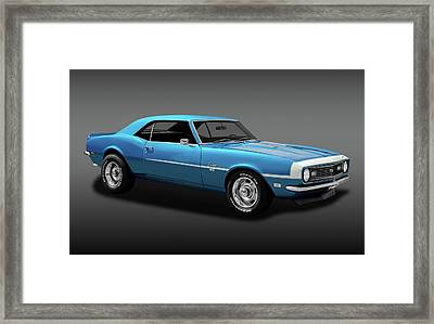 1968 Chevrolet Camaro Super Sport 350   -  1968chevcamaross350fa170414 Framed Print