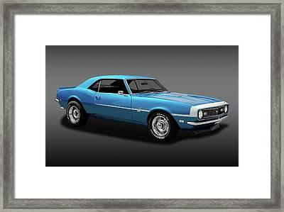 1968 Chevrolet Camaro Super Sport 350   -  1968chevcamaross350fa170414 Framed Print