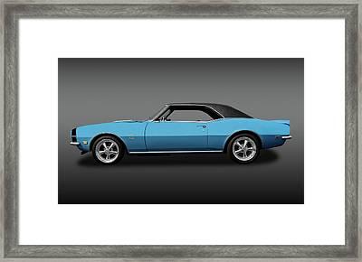 1968 Chevrolet Camaro Super Sport 396   -   1968chcam396ssfa0130 Framed Print