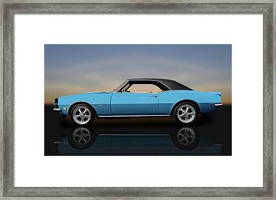 1968 Chevrolet Camaro Super Sport 396   -   68camarossreflect0130 Framed Print