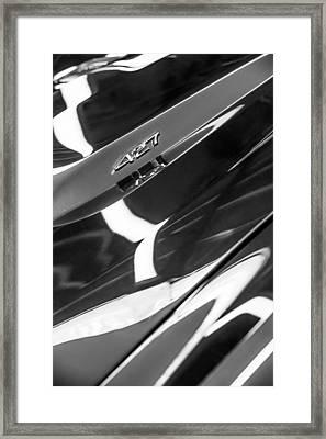 1968 Chevrolet Yenko Super Camaro 427 Hood Emblem -1805bw Framed Print by Jill Reger