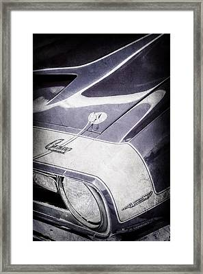 1968 Chevrolet Yenko Super Camaro Emblem -0653ac Framed Print by Jill Reger